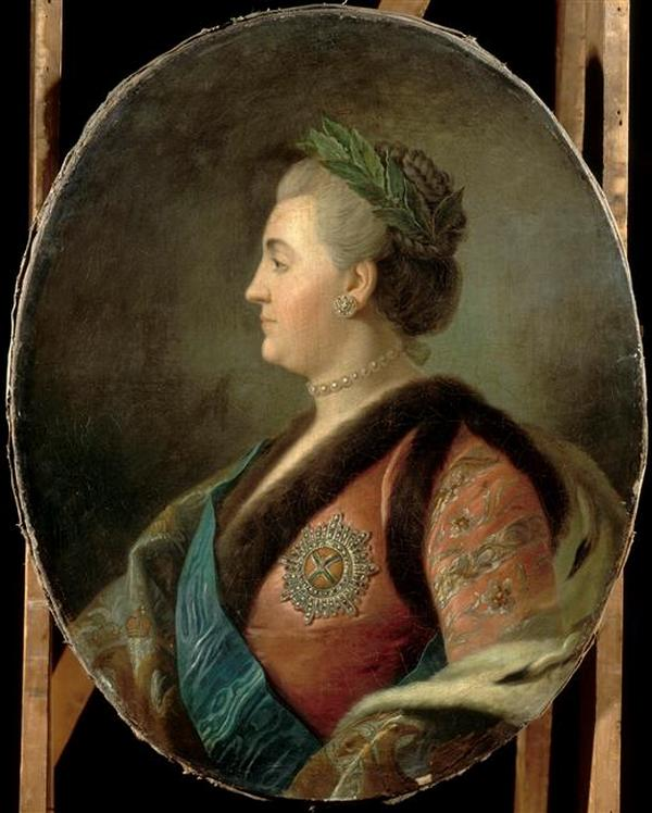 Profile_portrait_of_Catherine_II_by_anonymous_after_Rotari_(18_c,,_Versailles)