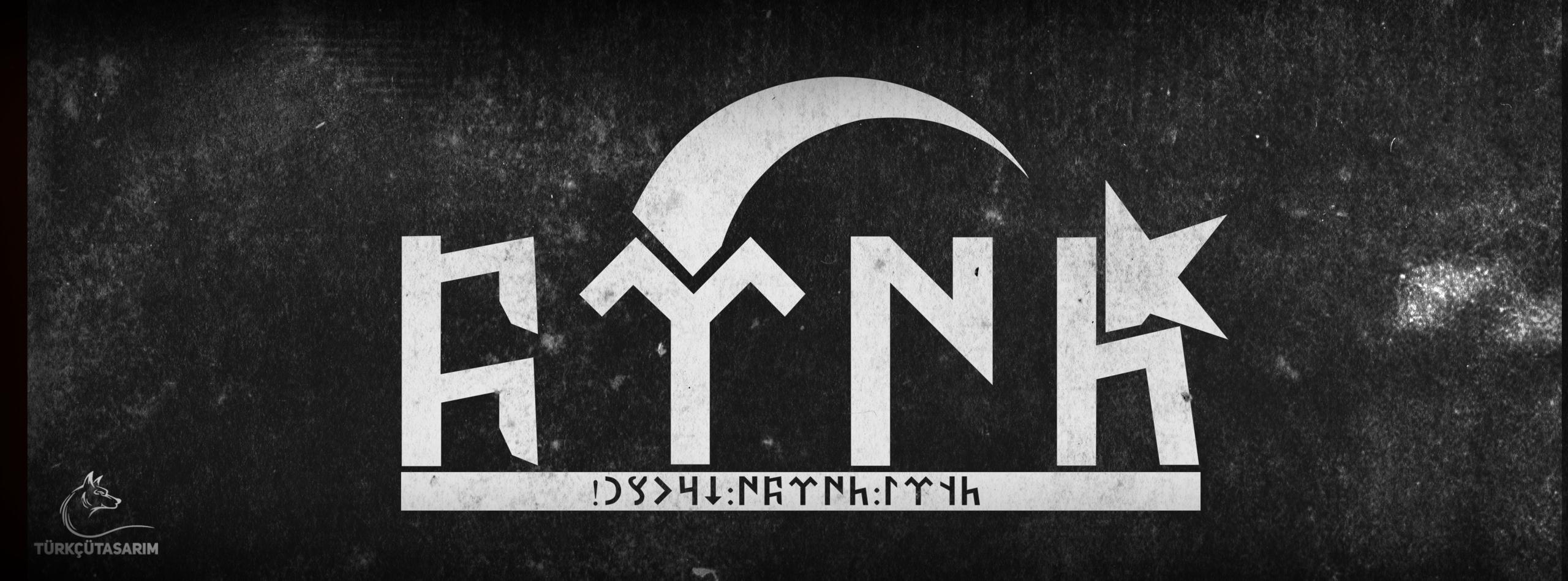 göktürkçe türk ay yıldız ve tengri türkü korusun yazısı
