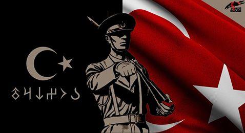 türk askeri ve bayrak
