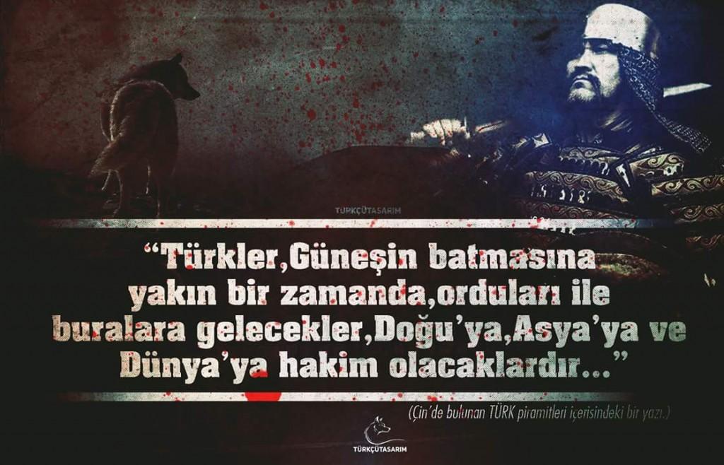 türkler cihana hakim olacaktır