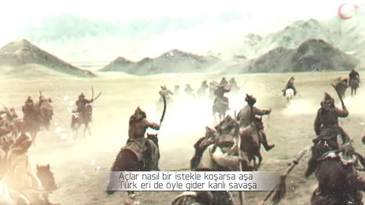 türklerde öyle gider kanlı savaşa