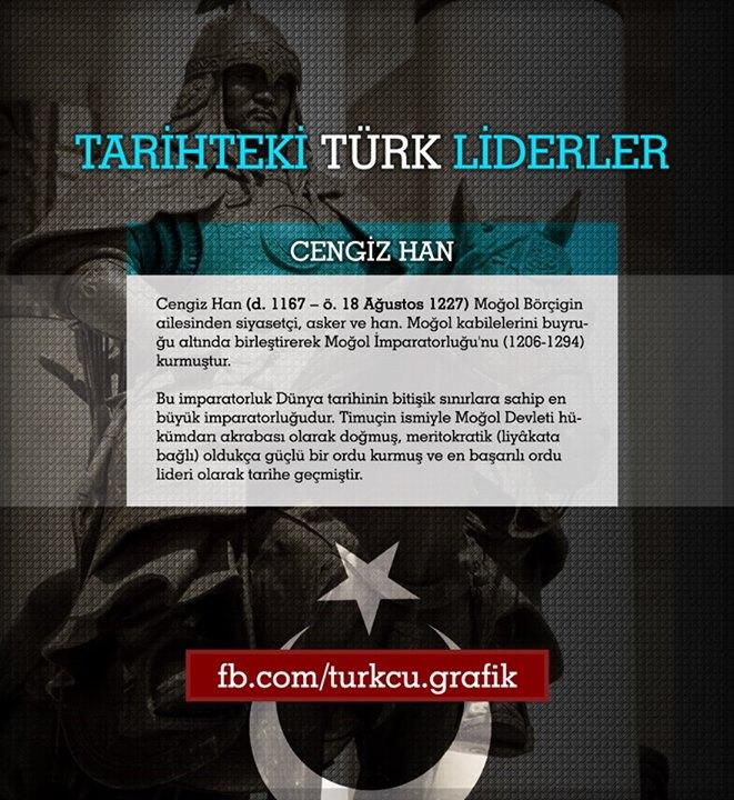 tarihteki türk lider cengiz han